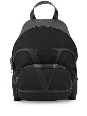 Czarny plecak skórzany Valentino