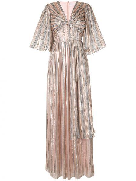 Платье макси в полоску с V-образным вырезом Peter Pilotto
