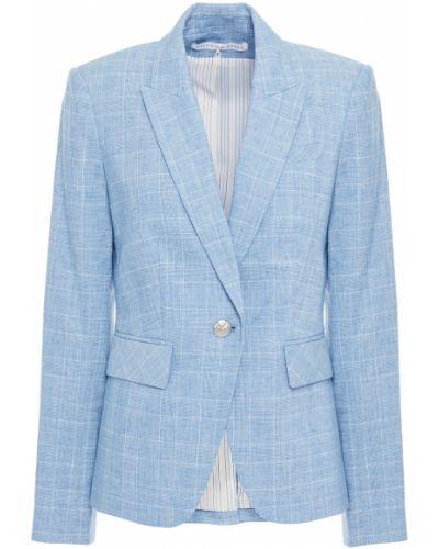 Льняной синий пиджак с подкладкой Veronica Beard