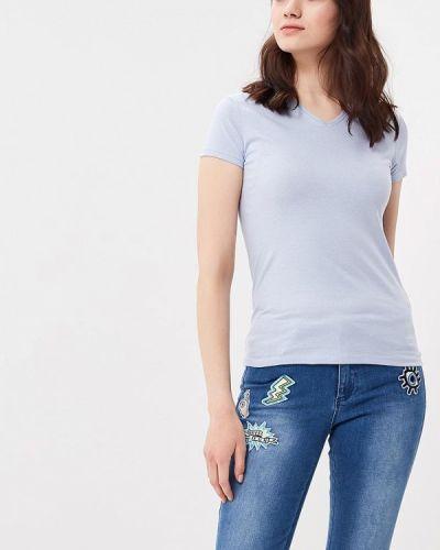 Голубая футболка Naf Naf