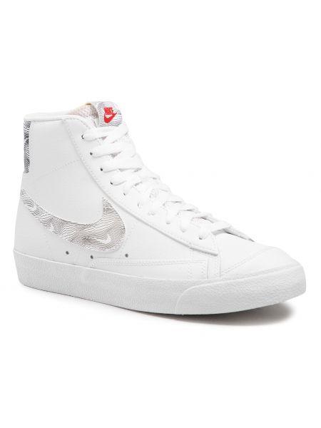 Biała marynarka skórzana Nike