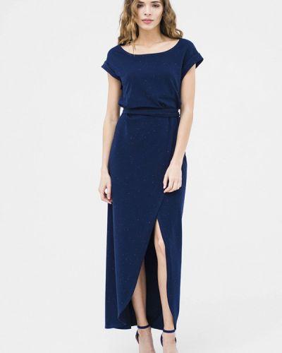 Повседневное платье весеннее синее Mascot