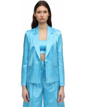 Синий пиджак с карманами с отворотом Staud