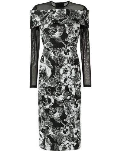 Платье миди с цветочным принтом на молнии Tufi Duek