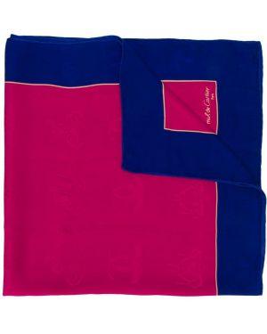 Розовый шелковый платок с вышивкой Cartier Pre-owned