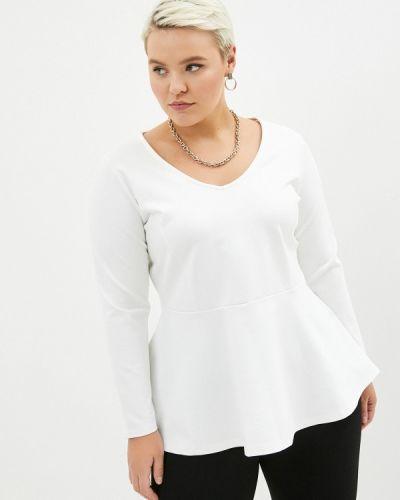 С рукавами белая блузка Sophia
