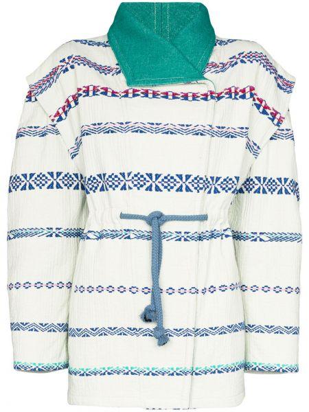 Шелковый зеленый пиджак с вышивкой Isabel Marant