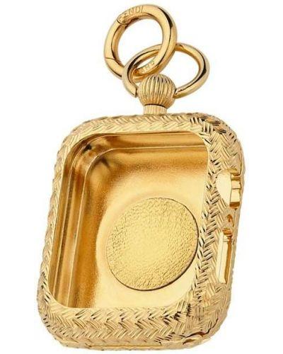 Etui na klucze złoto plac Fendi