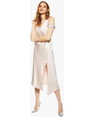 Вечернее платье весеннее бежевый Topshop