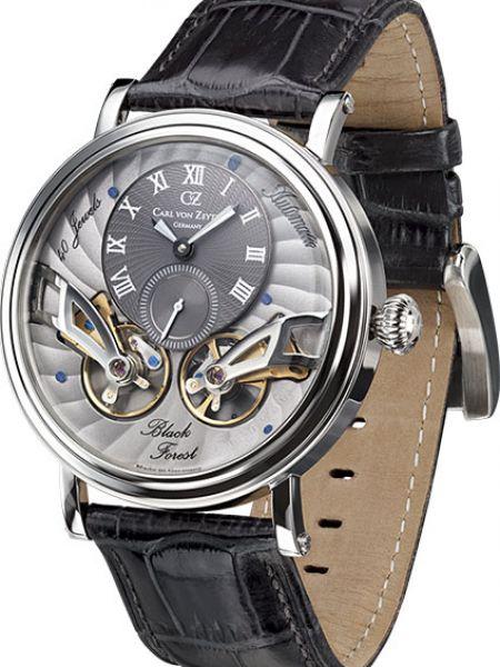Часы водонепроницаемые механические с кожаным ремешком Carl Von Zeyten