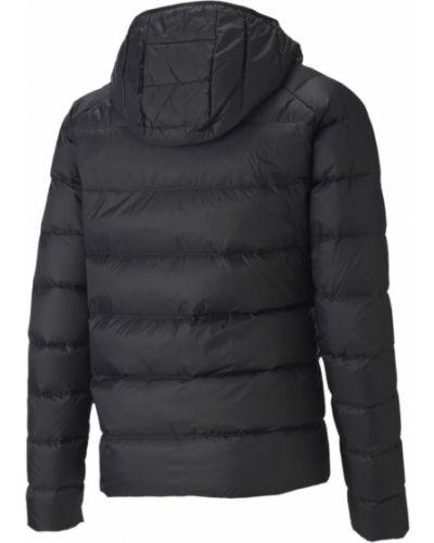 Пуховая с рукавами черная куртка Puma