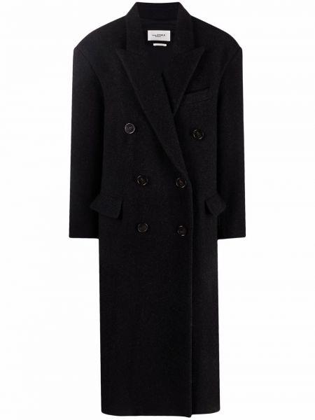 Черное хлопковое пальто Isabel Marant étoile