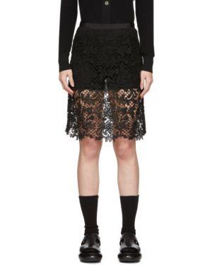 Юбка мини юбка-шорты с узором гусиные лапки Sacai