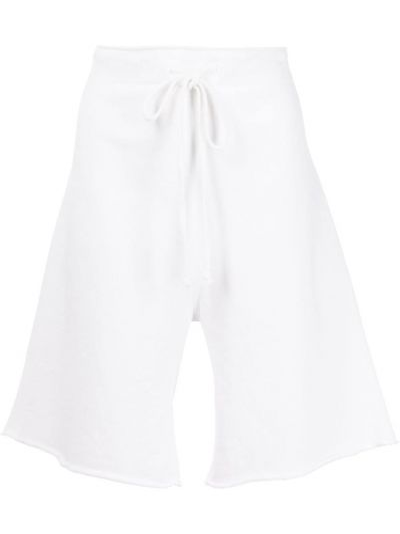 Хлопковые белые спортивные шорты с карманами Nili Lotan