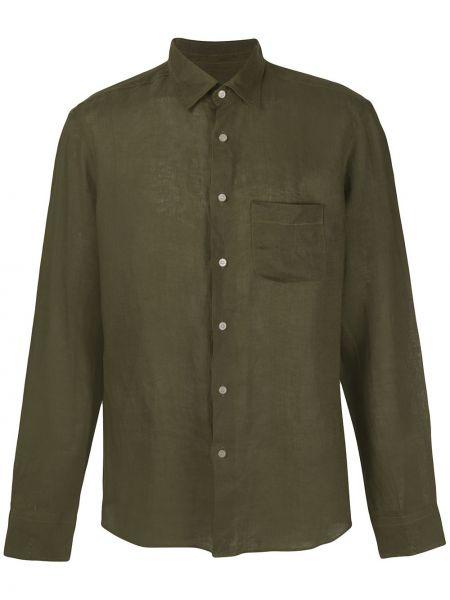 Koszula z długim rękawem z kieszeniami zielona Peninsula Swimwear