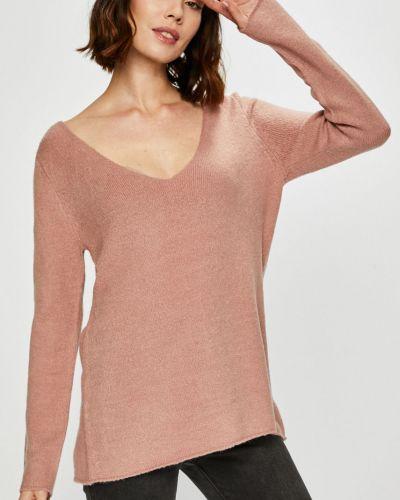 Акриловый розовый свитер с вырезом Rock Angel