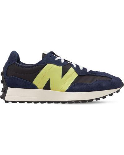 Кроссовки с рисунком сетчатые на шнуровке New Balance