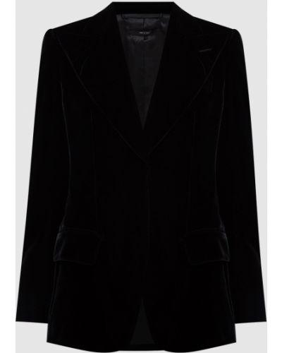 Черный бархатный пиджак Tom Ford