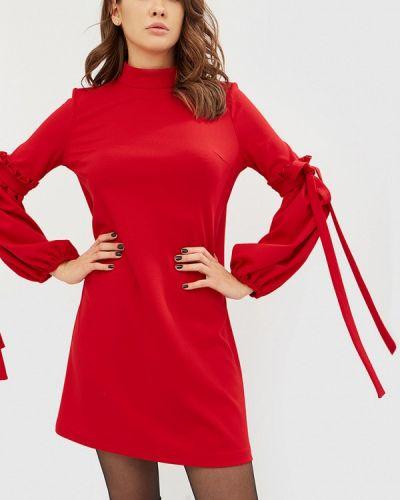 Красное платье осеннее Cardo