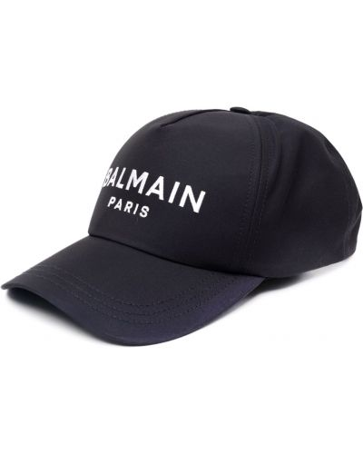 Niebieska czapka Balmain