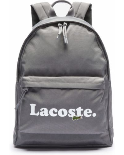 Серая сумка Lacoste
