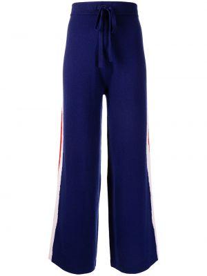 Шерстяные брюки - синие être Cécile
