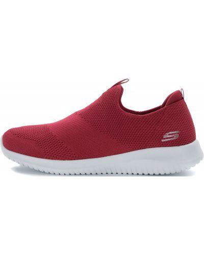 Кроссовки из искусственной кожи красный Skechers