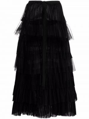Długa spódnica tiulowa - czarna Dondup