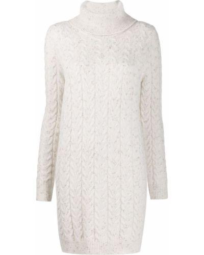 Платье макси с длинными рукавами - белое Blumarine
