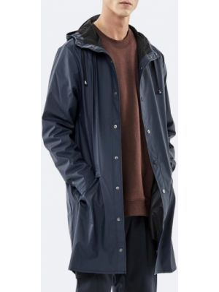 Синяя длинная куртка Rains