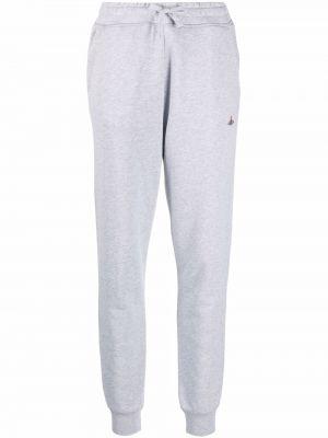 Серые хлопковые брюки Vivienne Westwood