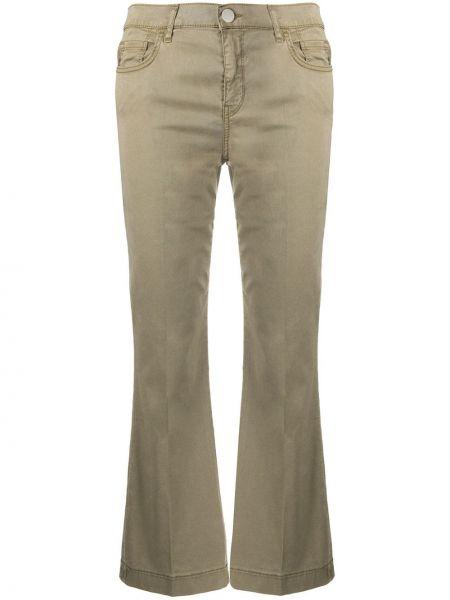 Широкие джинсы укороченные расклешенные Pinko