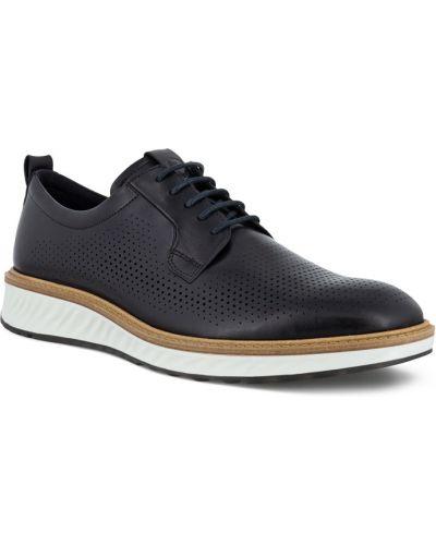 Черные кожаные полуботинки на шнурках Ecco