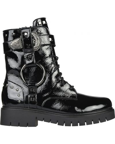 Ботинки на платформе кожаные осенние L'estrosa
