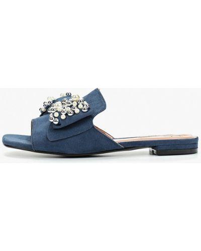 Сабо на каблуке синий Inario
