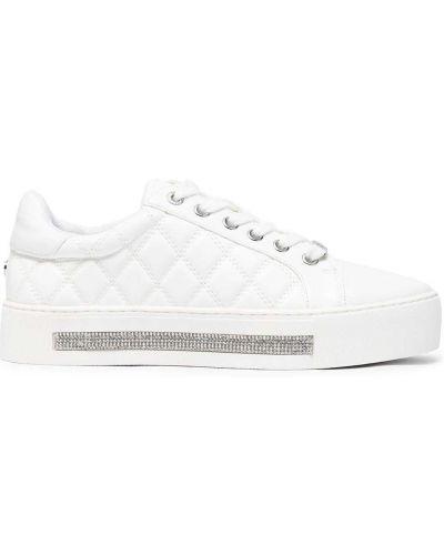 Białe sneakersy koronkowe sznurowane Carvela