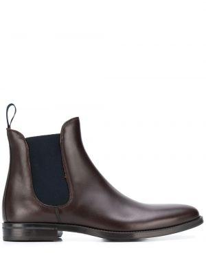Brązowe ankle boots skorzane Scarosso