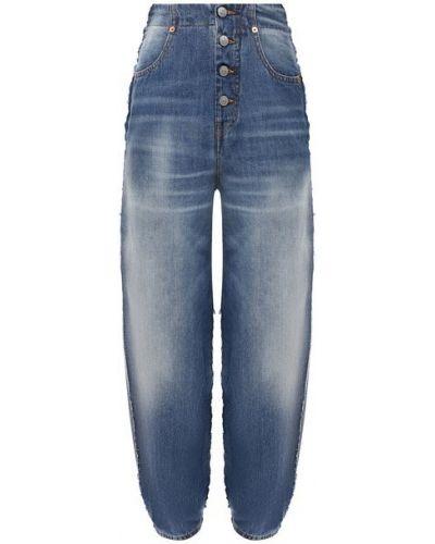 Хлопковые джинсы - синие Mm6