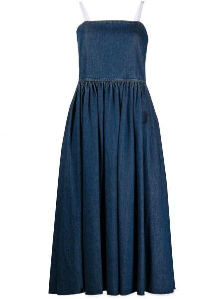 Джинсовое платье прямое синее Mm6 Maison Margiela