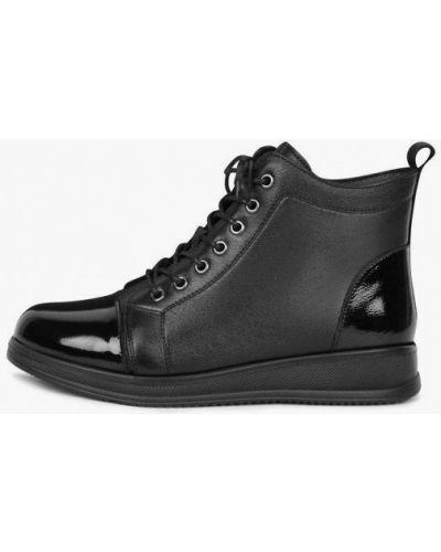 Кожаные ботинки - черные Kari