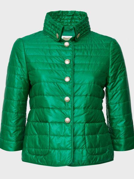 Зеленая куртка на кнопках с подкладкой Gallotti