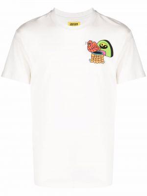 Biała T-shirt z nadrukiem z printem Chinatown Market