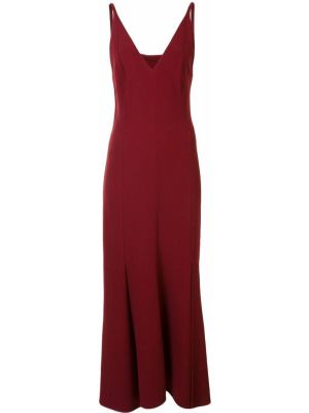 Платье миди с открытой спиной на бретелях Victoria Beckham