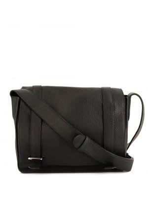 Черная кожаная сумка на плечо винтажная Hermès
