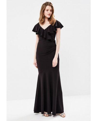 Черное платье весеннее City Goddess
