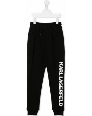 Черные брюки Karl Lagerfeld Kids