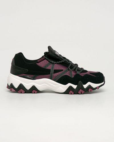 Fioletowe sneakersy skorzane sznurowane Fila