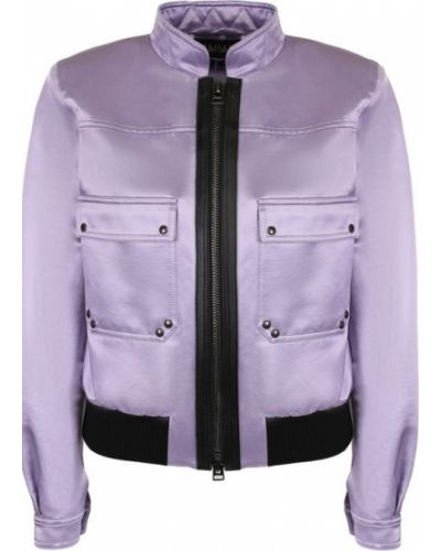 Фиолетовый бомбер на молнии Tom Ford