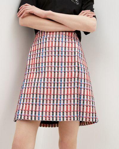 Розовая юбка свободного кроя Akris Punto