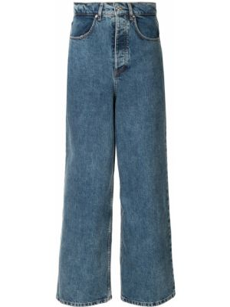 Хлопковые синие джинсы на пуговицах свободного кроя Walk Of Shame